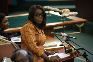 The Minister of Finance, Kemi Adeosun appears before the members of House of Representative