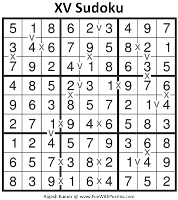 Answer of XV Sudoku Puzzle (Fun With Sudoku #377)
