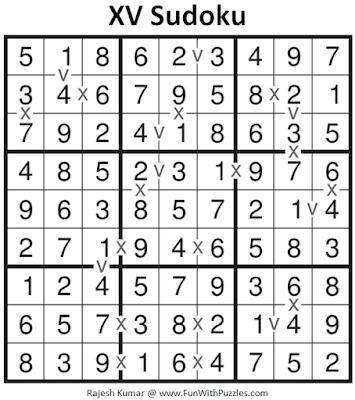 Answer of XV Sudoku Puzzle (Fun With Sudoku #377)