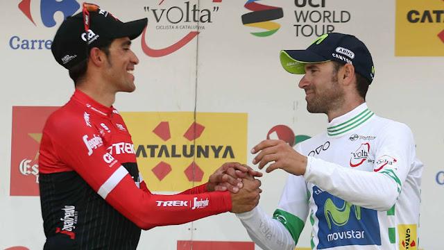 Valverde disfruta, Contador quiere... ¿Con cual te quedas?