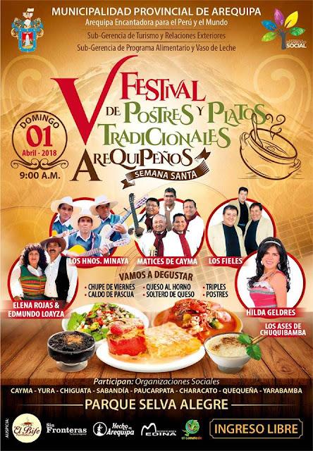Festival de postres y platos típicos arequipeños