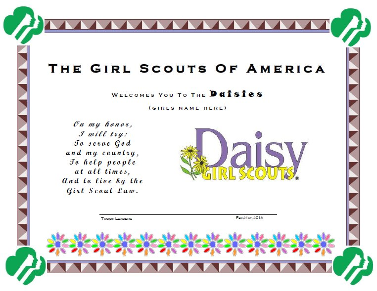 Girl Membership Daisy Scout Pin