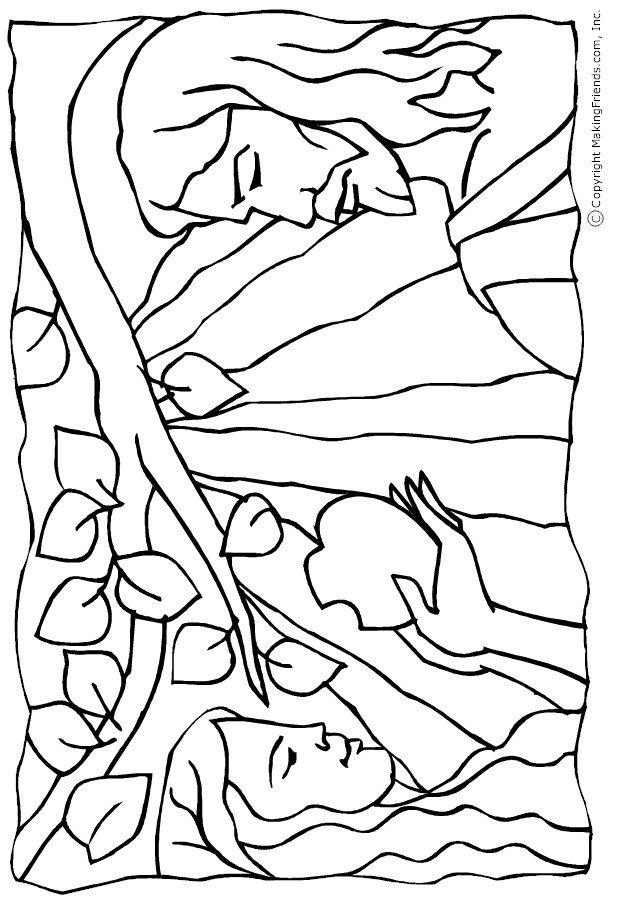Tiny hearts blog lesson 11 adam and eve the very first sin for Coloring pages adam and eve