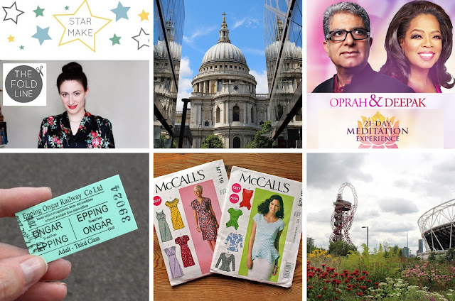 The Butterfly Balcony - Sewing, Stadiums & Steam - Winning Star Make // St Paul's  Cathedral // Deepak & Oprah // Epping-Ongar Line // McCalls Pattern Haul // The Olympic Park