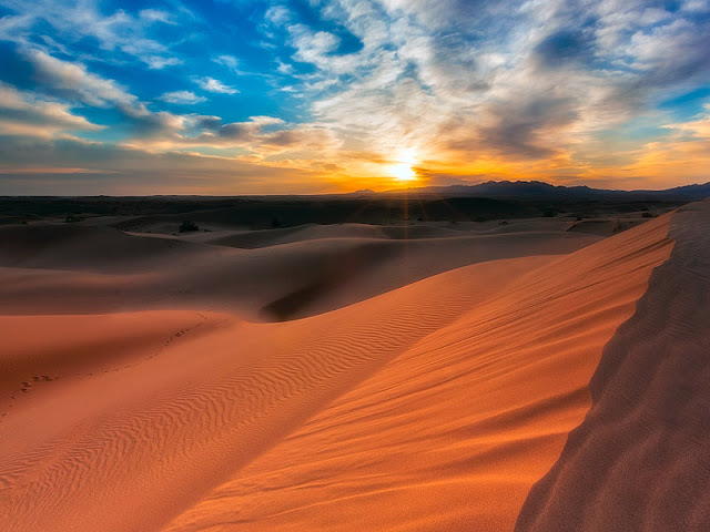 San dunes of Mesr Village, Iran.
