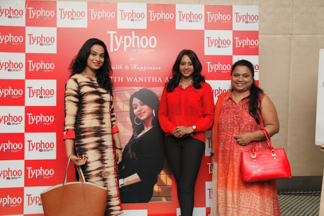 From Left to Right Pallavi ( Gurukiran's wife) Wanitha Ashok and Gayathri at the Typhoo Wellness session held at Bangalore