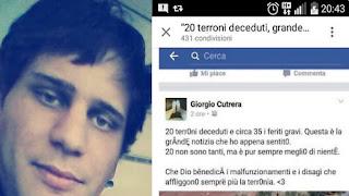 Insulti a Giorgio Cutrera su Facebook per lo scontro di treni in Puglia