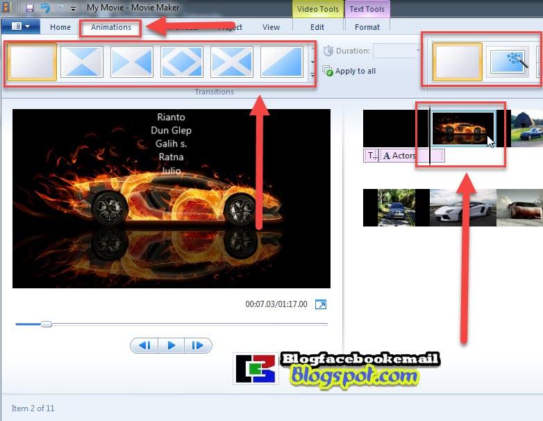 cara menambahkan transisi dan efek  ke video
