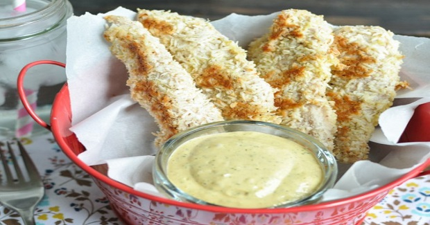 Backed Coconut Chicken With Spicy Mango Dipping Sauce Recipe - Kusina ...