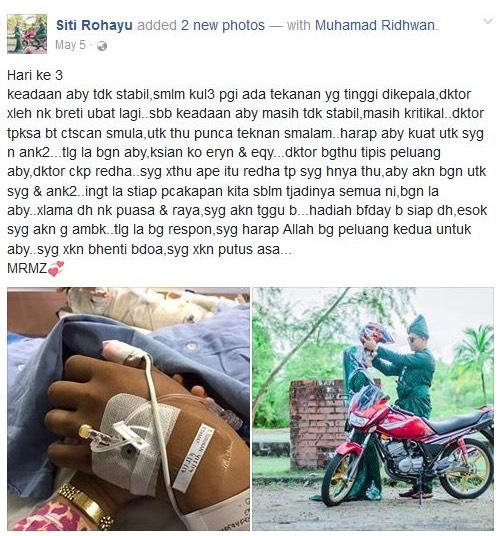 Suami Siti Rohayu Koma