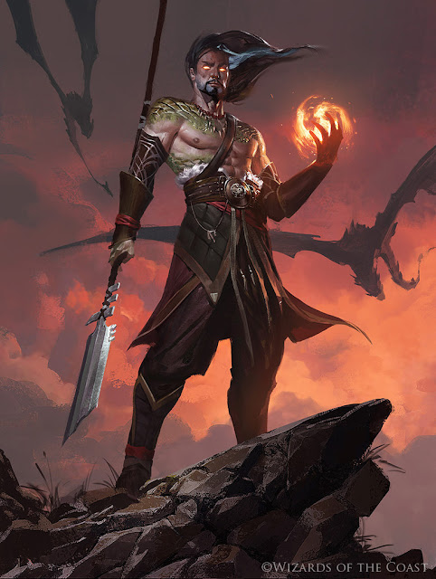 Sarkhan Fireblood - Magic the Gathering by 88grzes-dcgcu9u