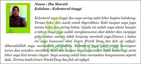 Testimoni Deep Sea Fish Oil