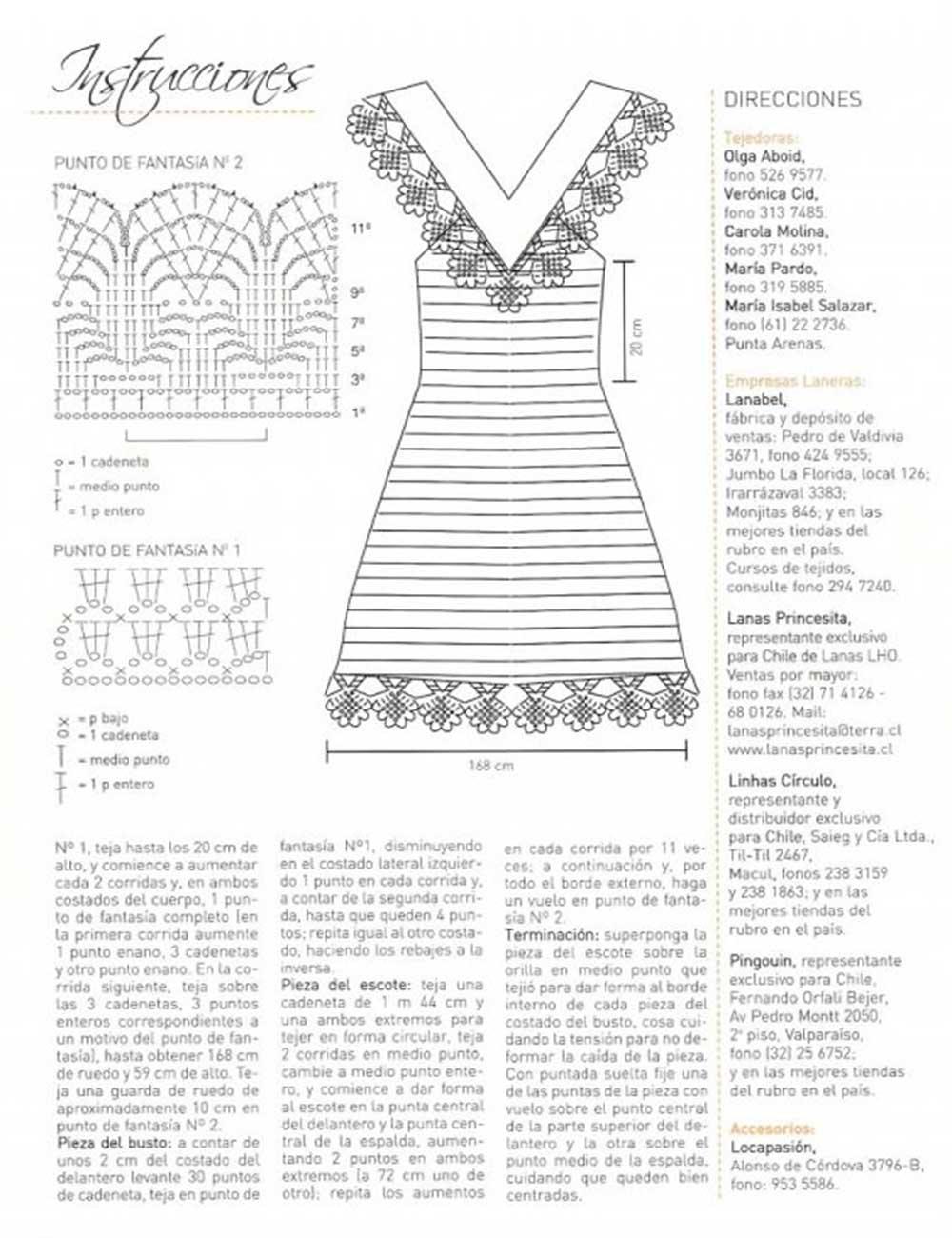 vestido, mujer, moda, ganchillo, crochet, patrón