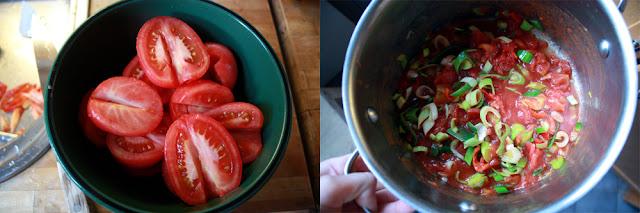 Oppskrift Hjemmelaget Tomatsuppe Plommetomater Hvordan Flå Tomater