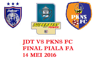 jdt vs pkns fc Final FA 2016