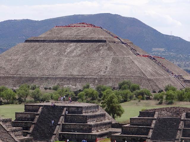 Famosa pirâmide do México