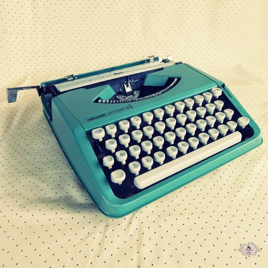 decoração com máquina de escrever vintage