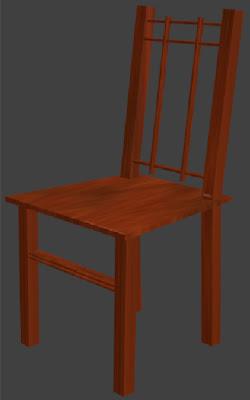 3D Wooden Chair Sample