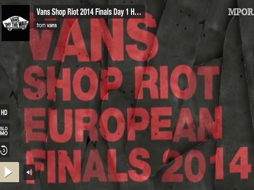 1af4928f81d69a Vans Shop Riot 2014 Finals - Highlights Day 2