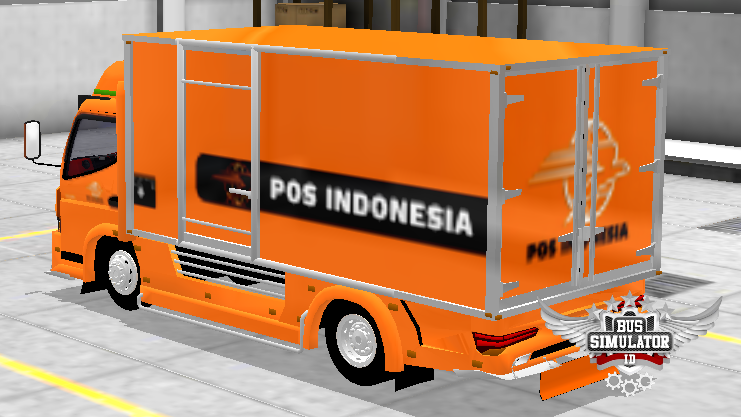 Livery Mod Truck Canter Box Pos Indonesia - Gudang Livery