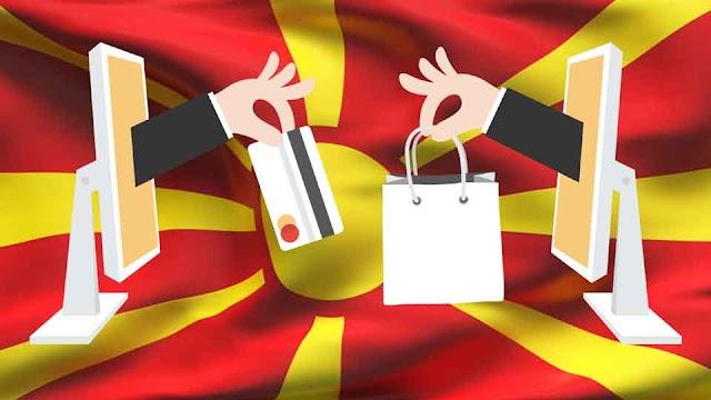Weniger als 20 Prozent shoppen Online in Mazedonien