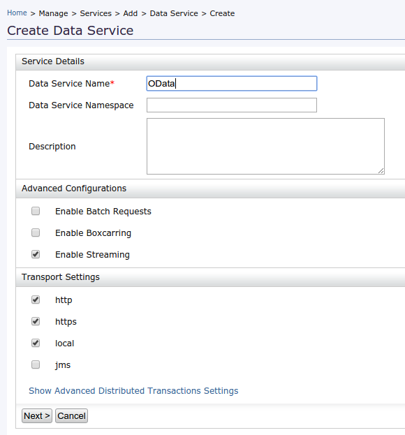 How to create a OData service in WSO2 DSS 3 5 0 ~ Madhawa's
