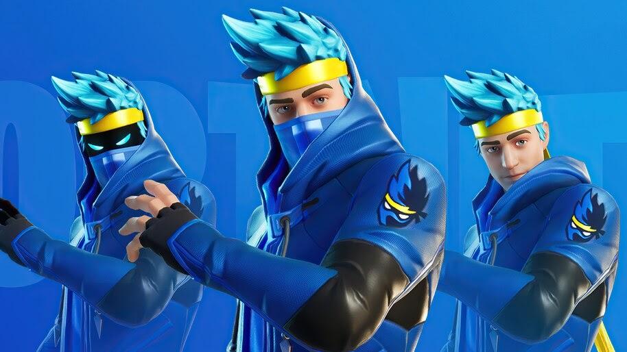 Ninja, Fortnite Battle Royale, Skin, 4K, #7.885