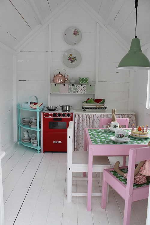 Inside The most amazing little DIY Play Shed for Girls!