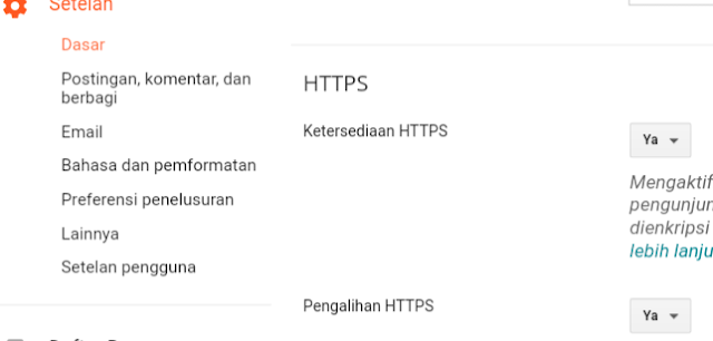 Cara Aktifkan SSL (HTTPS) di Blogger Pada Blog Custom Domain