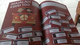 Majalah edisi 100 halaman tengah