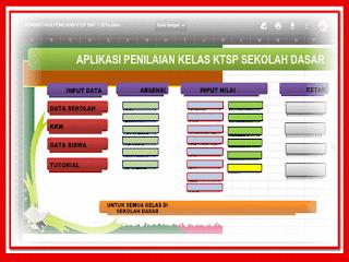 Aplikasi Raport UTS KTSP dan Kurikulum 2013 format Xlsm dan Format Xlsx