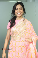 Actress Ritu Varma Pos in Beautiful Pink Anarkali Dress at at Keshava Movie Interview .COM 0015.JPG