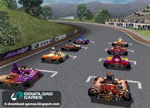 لعبة سيارات سباقات الكارت Open Kart