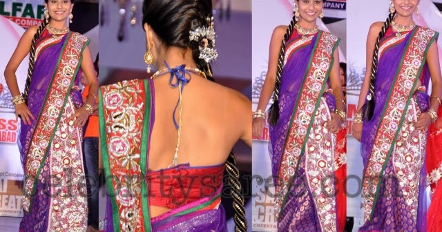 Saree Heavy Red Border Bridal Butti Work