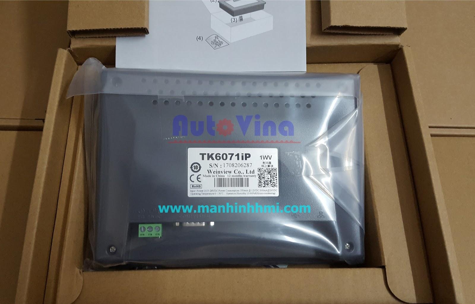 Đại lý bán màn hình cảm ứng TK6071iP hãng Weinview giá rẻ, hàng luôn có sẵn số lượng lớn
