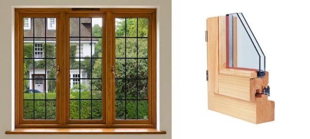 Một mẫu cửa sổ kính khung gỗ ở Châu Âu