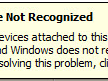 USB Device Not Recognized in Windows 8