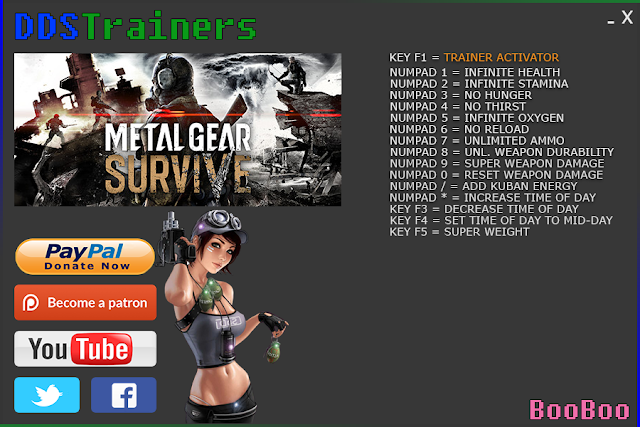 Metal Gear Survive Trainers and Cheats for PC