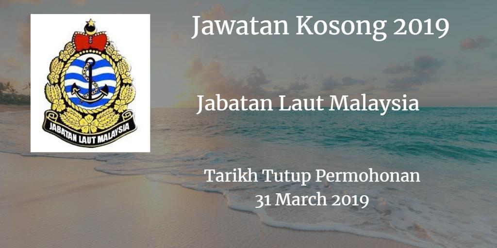 Jawatan Kosong Jabatan Laut Malaysia 31 March 2019