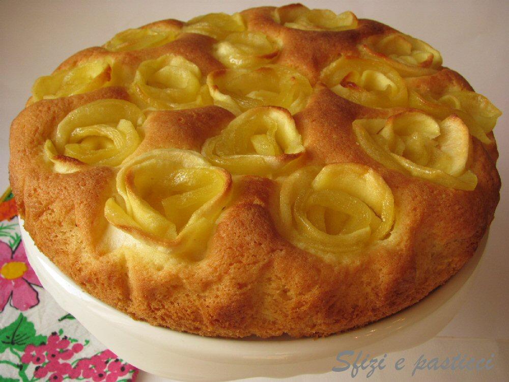 Sfizi e pasticci: Torta con rose di mele