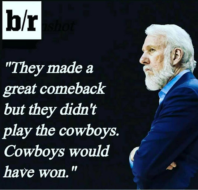 they made a great comeback but they didn't play the cowboys. cowboys would have won.