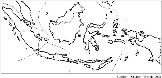 Peta pemerintahan pada zaman pendudukan Jepang.