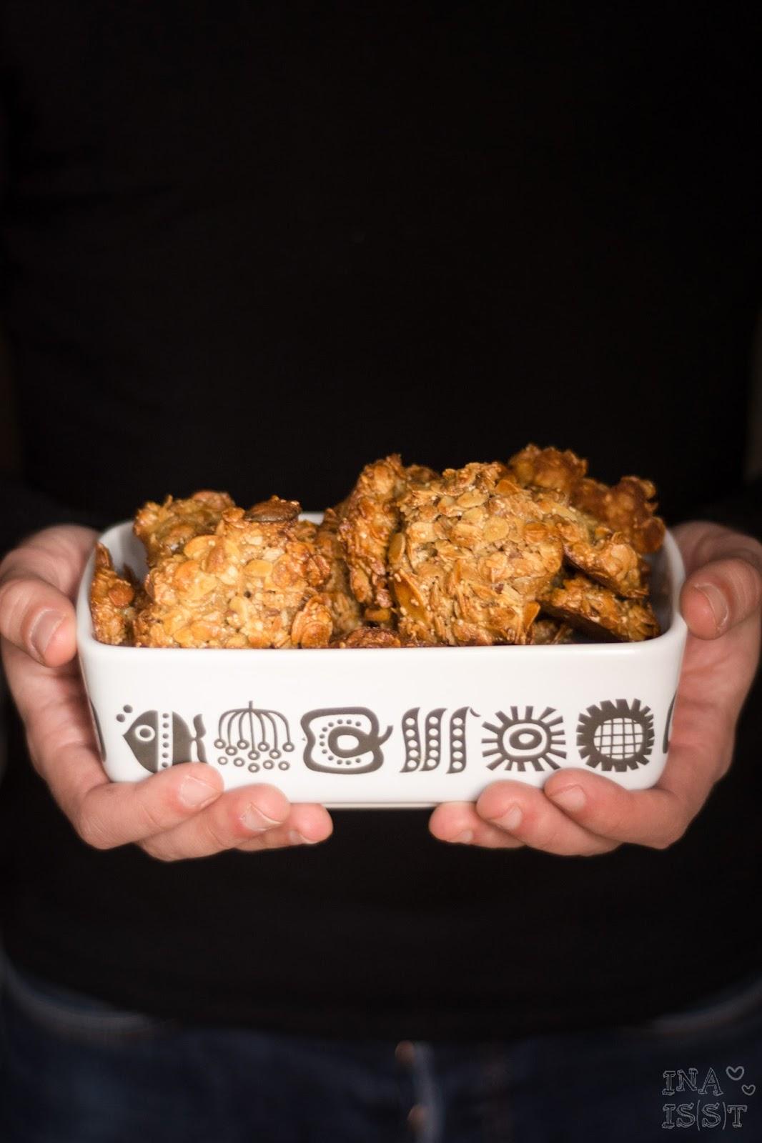 Schnelle Müslikekse mit Madeln, Zimt und Vanille