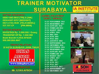 Pelatihan Motivator Surabaya 2017/2018