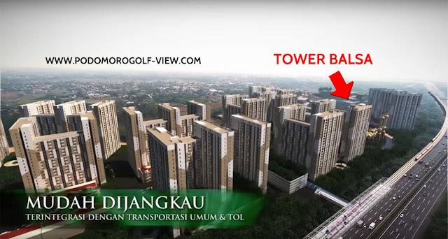 Lokasi Apartemen PGV Tower Balsa