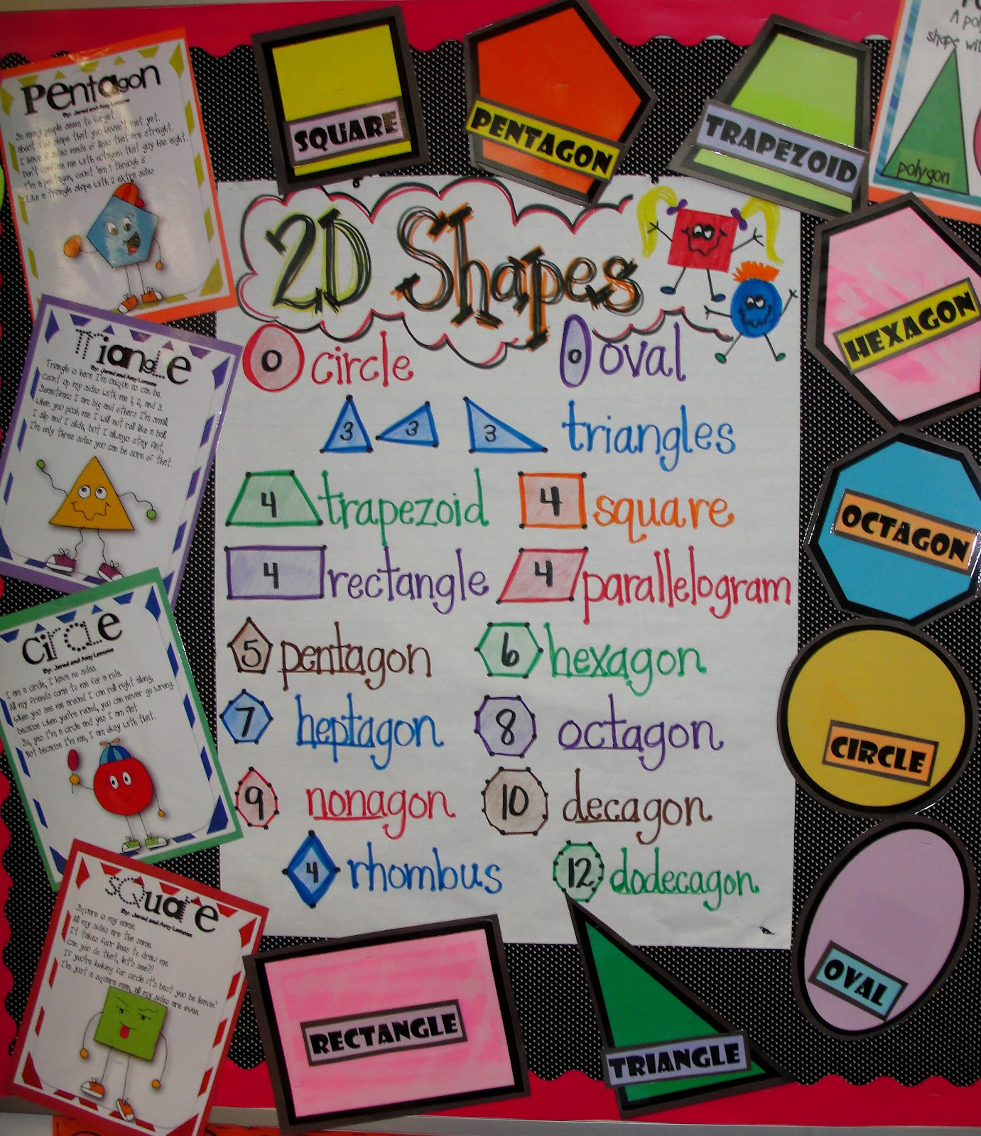 2d Geometric Shapes Chart Step Into 2nd Grade With Mrs Lemons Just A Little Post