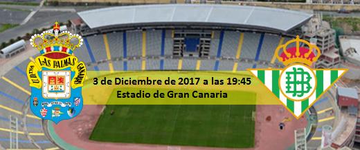 Previa UD Las Palmas - Real Betis Balompié 3 Diciembre 19:45