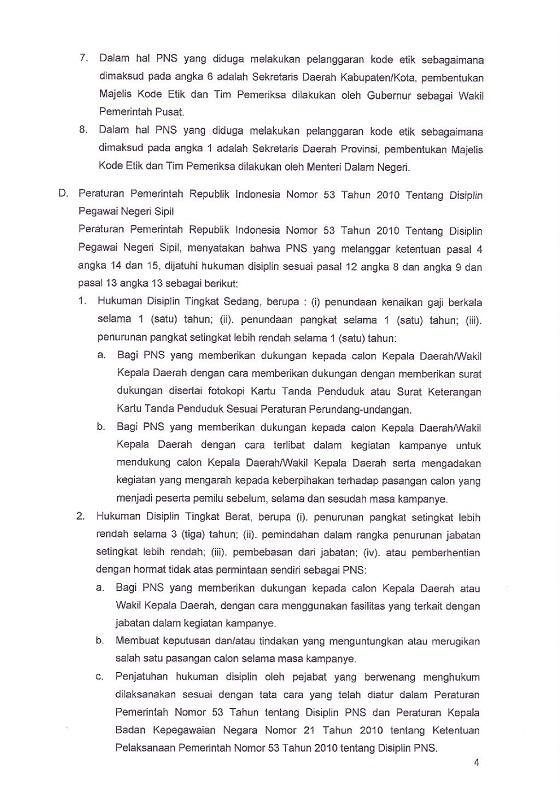 Surat Menteri PANRB: PNS Harus Menjaga Netralitas Dalam Pilkada Serentak 2018, Pileg dan Pilpres 2019, Inilah Sanksinya Jika Melanggar