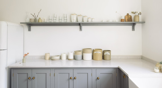 A beautiful English country kitchen in Nottingham by deVol - found on Hello Lovely Studio
