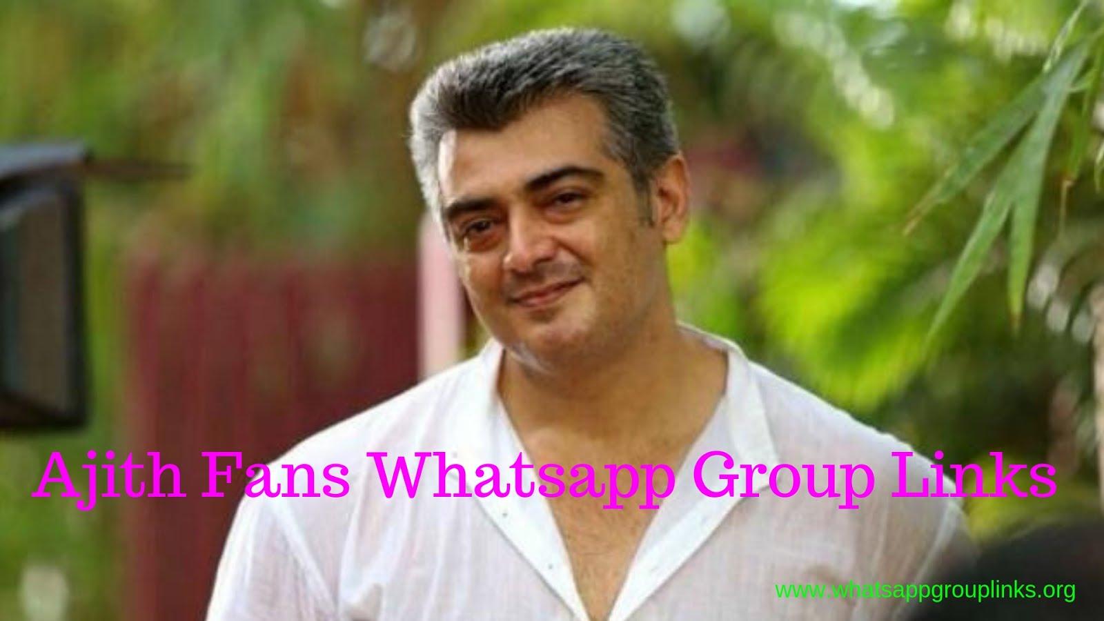 Join Tamil Hero Ajith Fans Whatsapp Group Links List